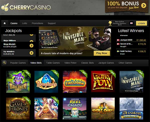 Cherry casino recension Rapidi Gefühlsvolle