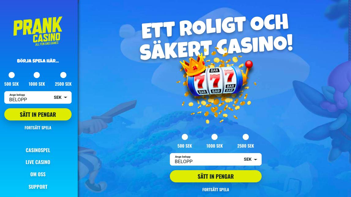 Casino utan konto Entlang