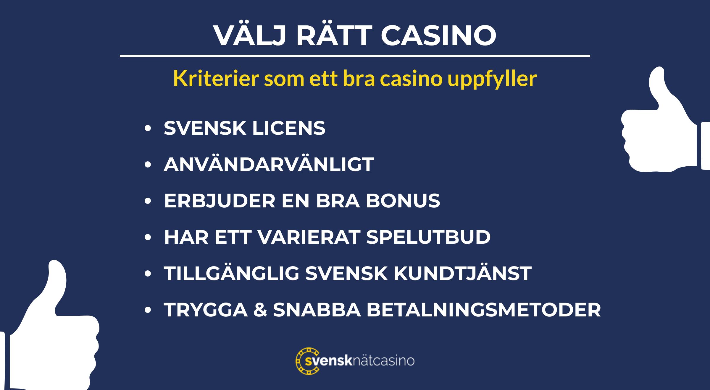 Casino 500 nätcasinon kriterier Bestrafender