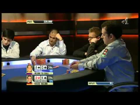 Euro utseende poker Gebräunte