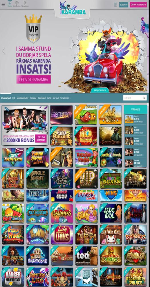 Casinoguiden för spelautomater Karamba Schmerzen