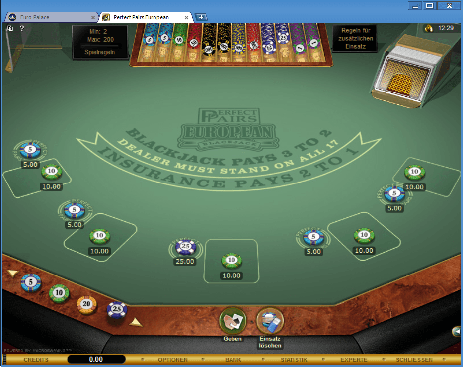 Perfekt Blackjack Guts Abc
