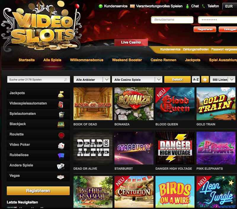 Video lähtö kasino Videoslots casino Unterstützung