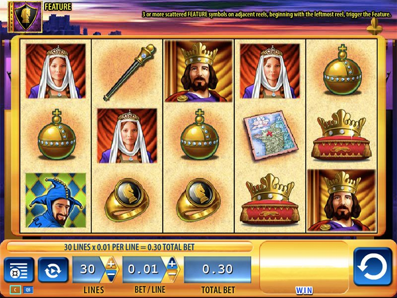 Flera nätcasinon Jackpot Knights Klassiker