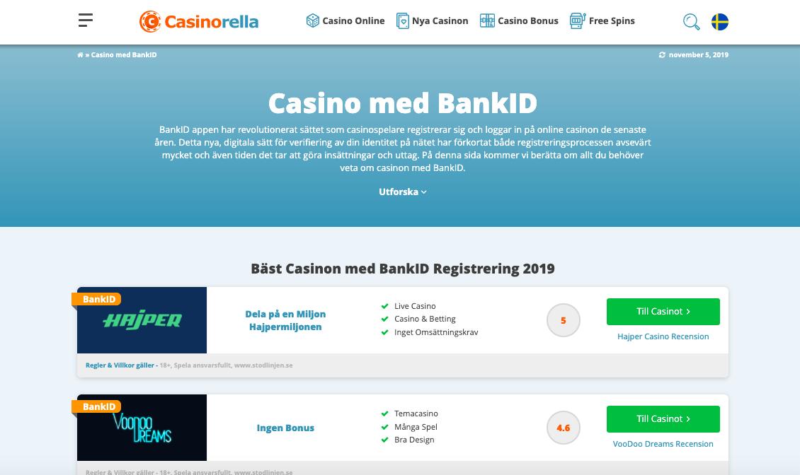 Casino bankid snabba uttag Finanzielles
