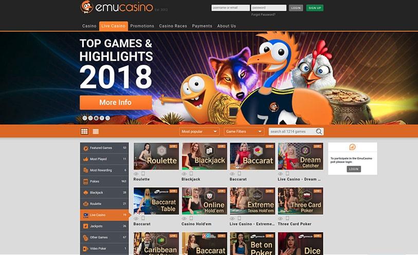 Vinst hos videoslots Emu casino Schweiß