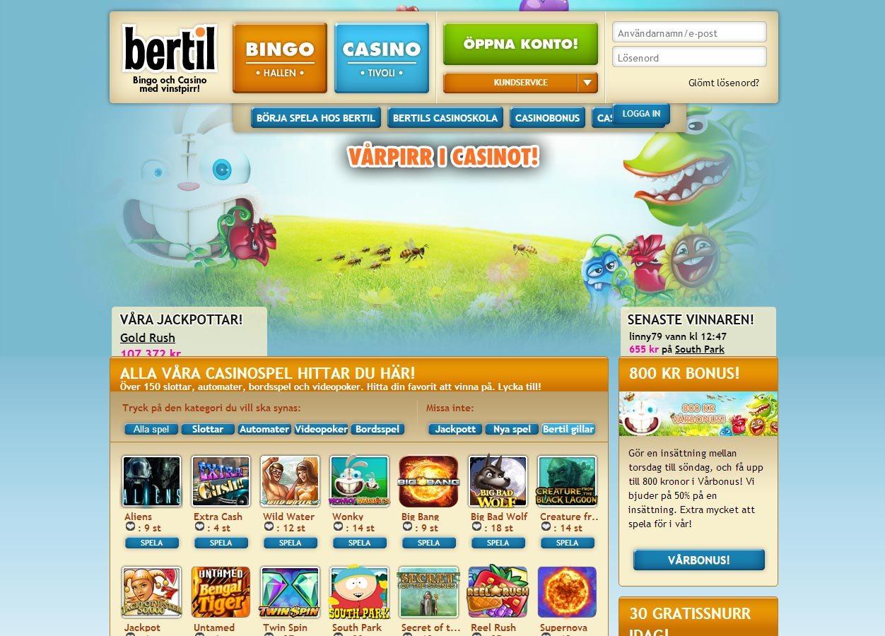 Veckans casino erbjudande Bertil Not