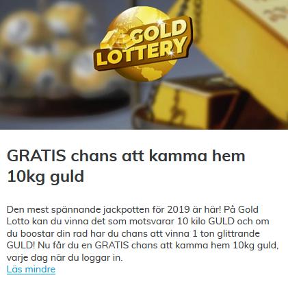 Vinn kg guld Svenska casino Einfühlrung
