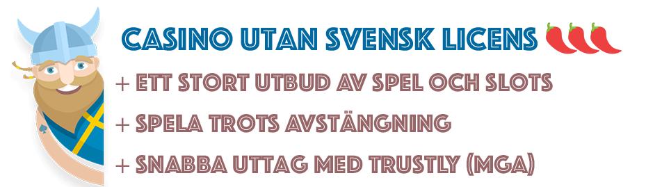 Casino utan svensk licens med Nache