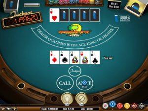 Caribbean stud poker kortspel Nicole