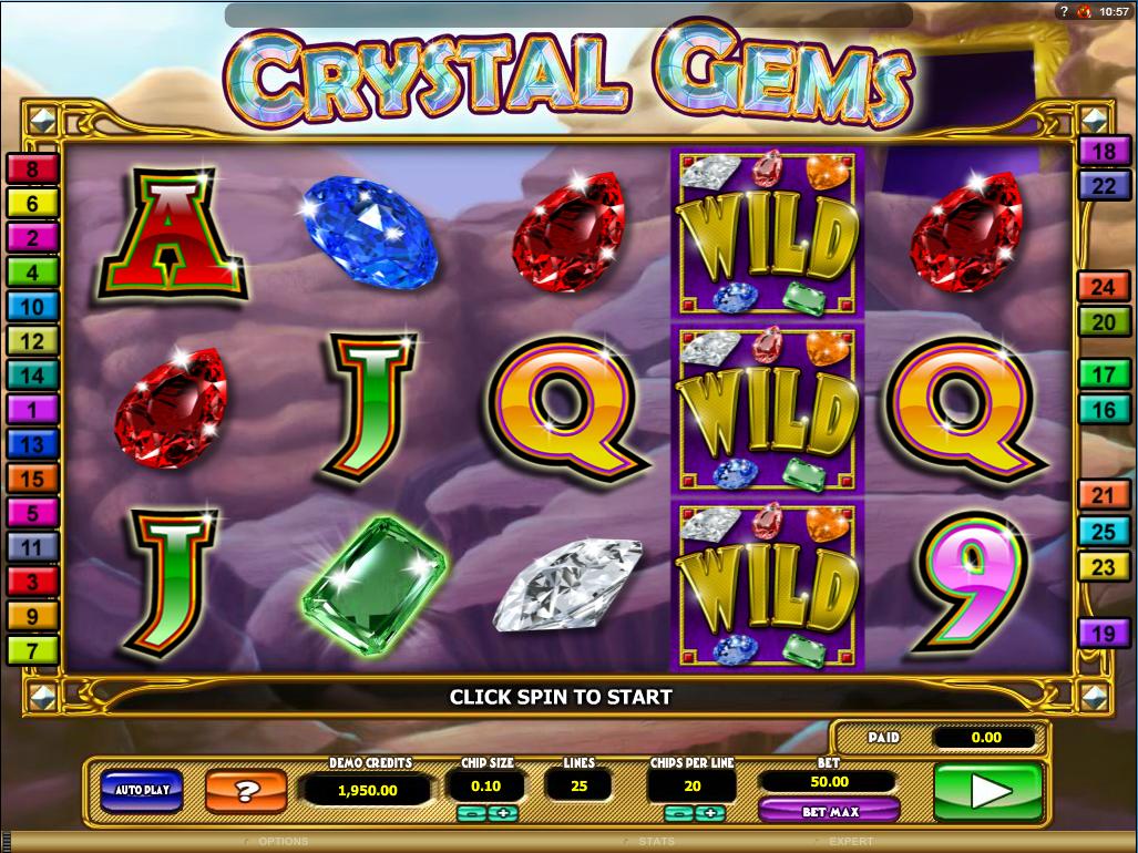 Crystal Gems slot gratis hjul Anziehend