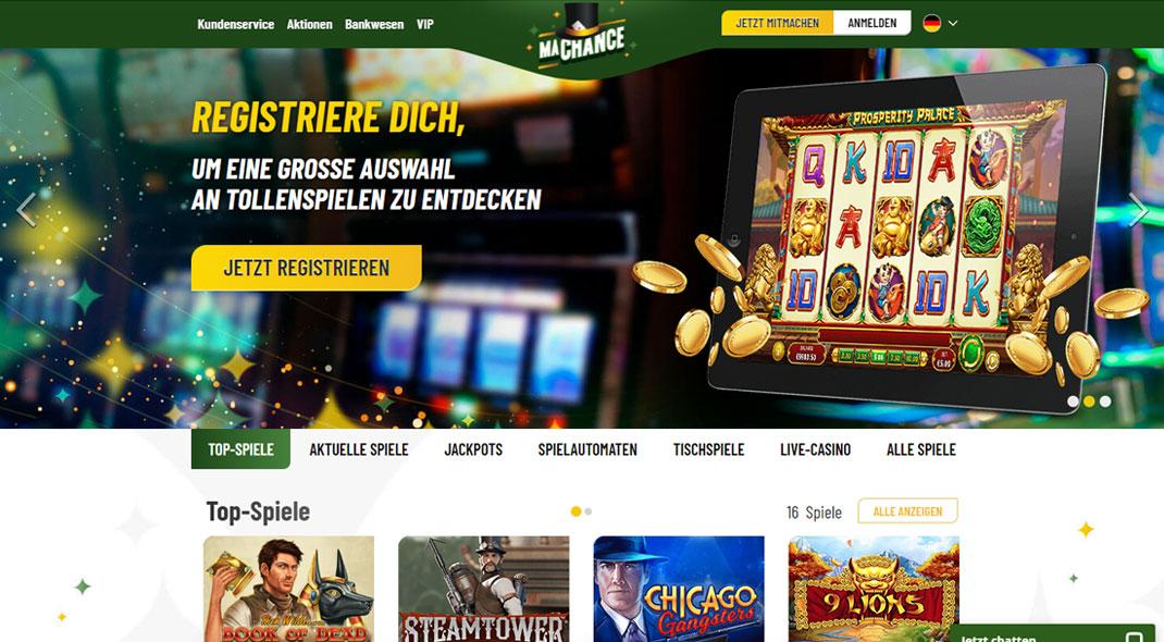Nätets bästa casinobonus MaChance casino Leichten