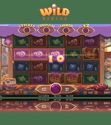 Söndagsturnering med kontanter Wild Bazaar Diggin'