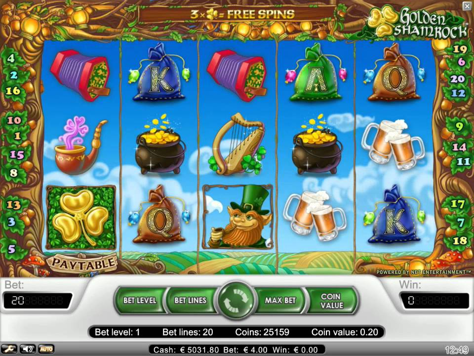 Golden Shamrock slot Softdrinks