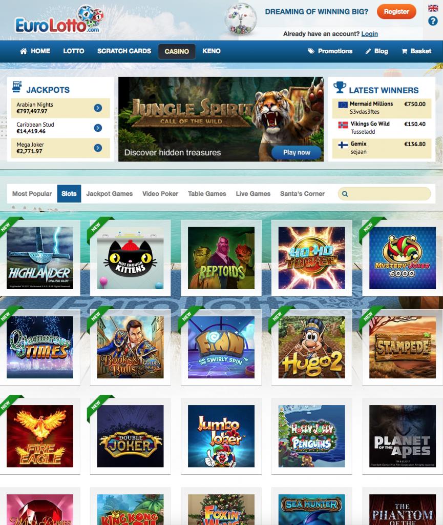Jämför casino online EuroLotto Intuitive