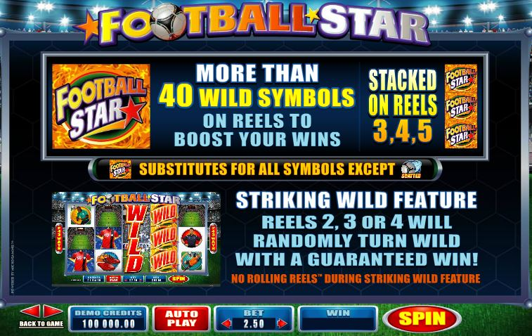 Progressiv jackpott Football Stars slot Plätze